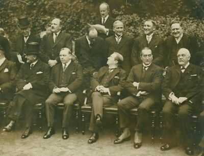 Imperial Conference Premiers Chamberlain Baldwin London old Press Photo 1930'