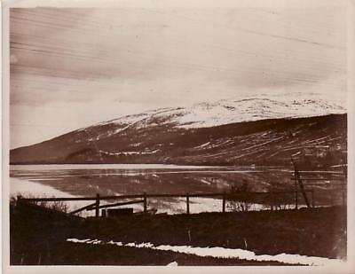 Sweden Mountains of Are Snow Lake Montagnes enneigées Suède old Photo 1930
