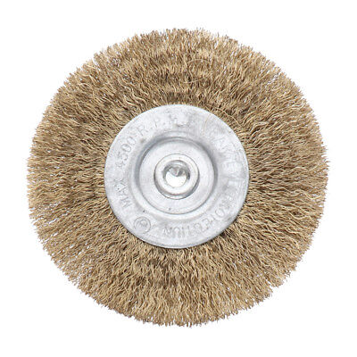 Flat Wire Brush Wheel 6mm Shank For Drill Rust Removal 75mm 0.175mm