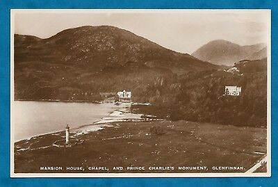 1930s RP PC MANSION HOUSE, CHAPEL & PRINCE CHARLIE'S MONUMENT GLENFINNAN
