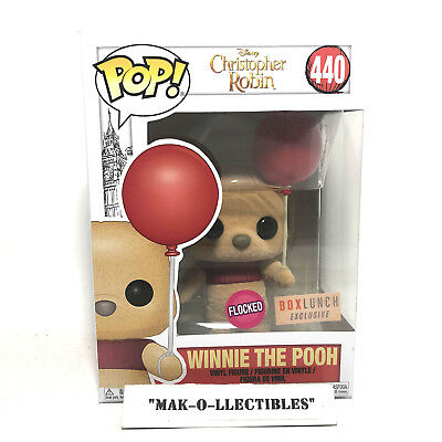 Funko Pop! Flocked Winnie The Pooh W/ Balloon #440 Boxlunch Exclusive