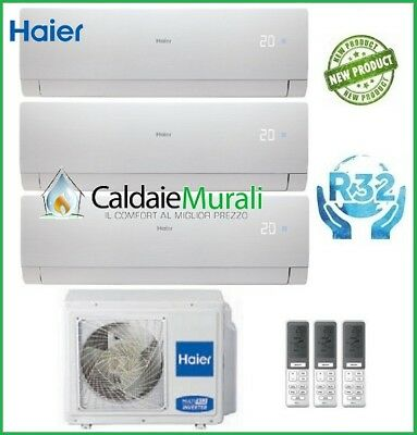 Conditionneur D'Air Trial Haier Nebula Vert Blanc R-32 9+9+12 avec 3U68S2SG1FA