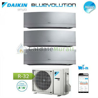 Conditionneur D'Air Daikin Trial Emura Argent Wifi Bluevolution 7+7+9 + 3MXM52M