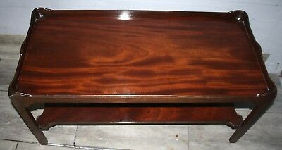 Excellent quality Georgian designed solid flame mahogany coffee table