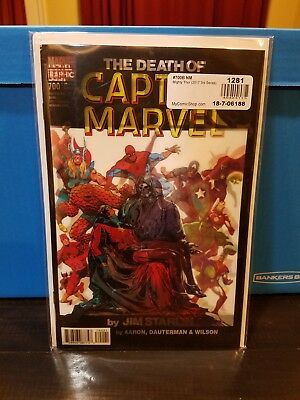 Mighty Thor # 700 Nm Lenticular Cover Variant Death Of Captain Marvel Homage