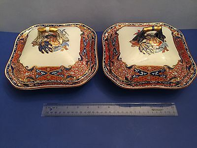 TWO Early 19th c COPELAND & GARRETT New Stone Late SPODE IMARI Cov Serving Bowls