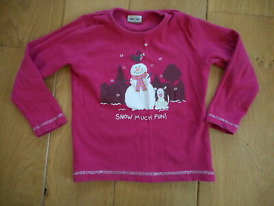 Girls Christmas Long Sleeved Top age 18-24 months by Cherokee