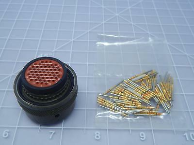 Amphenol M81511/06EE01S2, 348-46E16-55S2 Circular MIL Spec Connector w/ Contacts