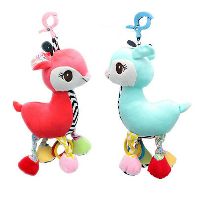 Plush Deer Animal Stroller Hanging Toy Baby Infant Baby Crib Toys Rattle Toys CB