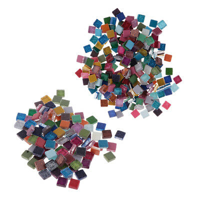 100g/200g Square Colored Mosaic Tiles Home Decors for Craft Glass Supplies