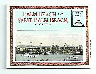 Palm Beach FL - Mini Postcard Folder with 16 views ca.1920s Florida