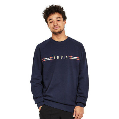 Le Fix - Flag Crew Sweater Navy Pullover Rundhals