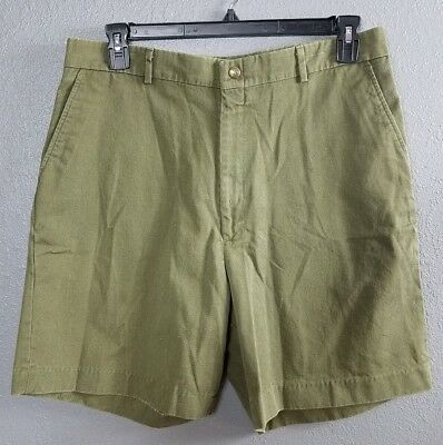 Boy Scouts 38 Shorts Leader BSA Official Uniform Green Flat Front Men's