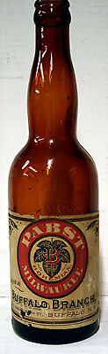 Pabst Bohemian Beer - Buffalo Branch - Labeled Embossed Bottle - Rare