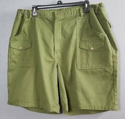 Boy Scouts 42 Shorts Leader BSA Official Uniform Green Cargo Pockets