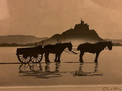 Geoffrey Garnier The Sand Cart Signed Proof Framed Picture
