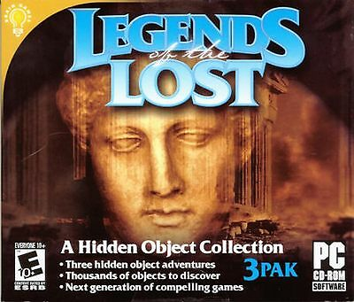 LEGENDS OF THE LOST Hidden Object 3 PACK PC Game CD-ROM NEW
