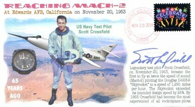 COVERSCAPE computer designed 65th Scott Crossfield reaching Mach-2 event cover