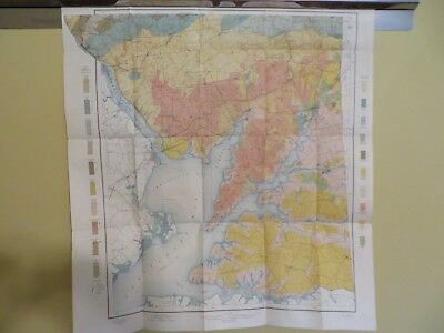 1900 Soil Map Cecil Cty Maryland Elkton Conowingo North East Apprx 27 X 29 #9250