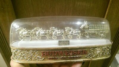Lighted Budweiser advertising sign w Clydesdale and wagon. Working. Light