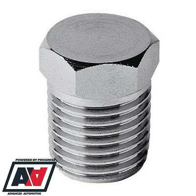 Blanking Plug 1/4 BSP Thread Stainless Steel - Fuel Oils Air ADV