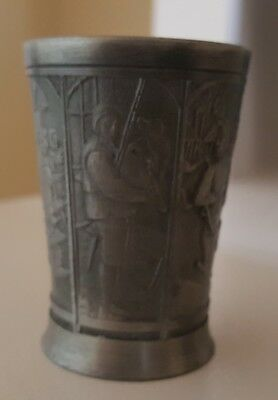 Vintage Royal Holland DAALDEROP Pewter Shot Glass