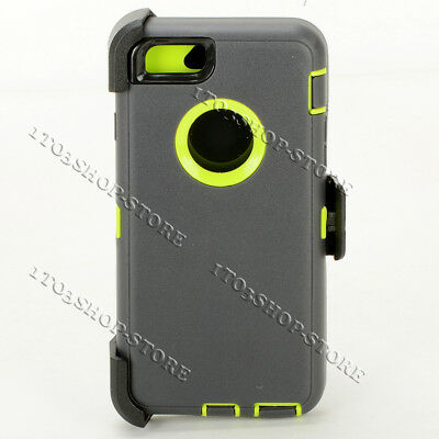 iPhone 6 iPhone 6s Case w/Belt Clip fits Otterbox Defender Dark Gray Lime Green