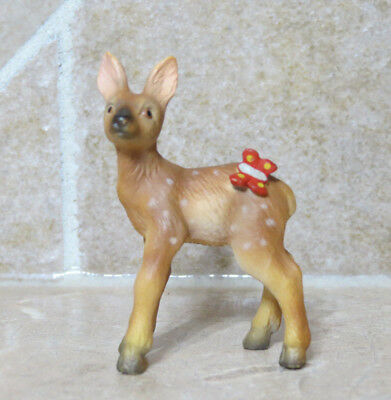 Schleich HTF super rare retired #14458 Fawn w/ Butterfly baby deer 2004~05 ONLY