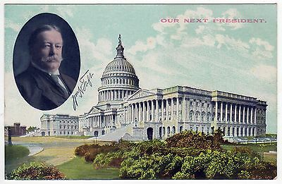 WILLIAM HOWARD TAFT President POLITICAL PC Postcard OHIO Our Next President OH