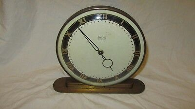 Vintage Smiths Brass Eight Day Clock 7 Jewels