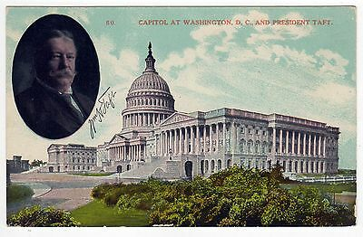 WILLIAM HOWARD TAFT President POLITICAL PC Postcard OHIO Washington DC Capitol