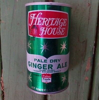 Heritage house ginger ale soda pop drink soda can