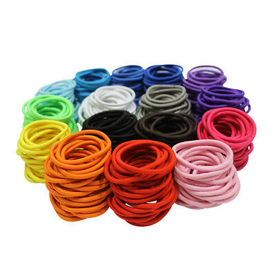 30 pce Thick Endless Snagfree Hair Elastic Bobble Ties - mixed colours