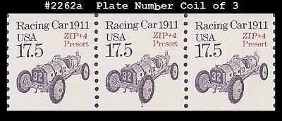 US #2262a MNH PNC3 Pl #1 Racing Car