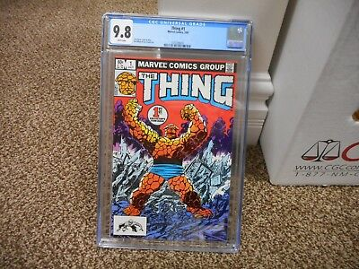 Thing 1 cgc 9.8 Marvel 1983 John Byrne cover 1st solo series Fantastic Four MINT