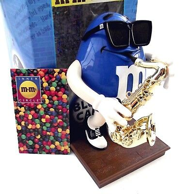 """EUC M&M's Dispenser Collector Series """"Blues Cafe"""" Limited Edition Jazz Saxophone"""