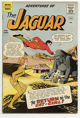JERRY WEIST ESTATE: ADVENTURES OF THE JAGUAR #4 (Archie 1962) VF condition! NR