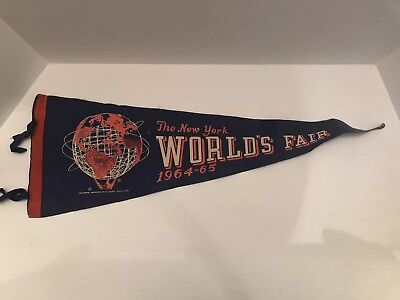 Vintage 1964-1965 New York Worlds Fair Felt Pennant