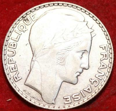 1934 France 10 Francs Silver Foreign Coin
