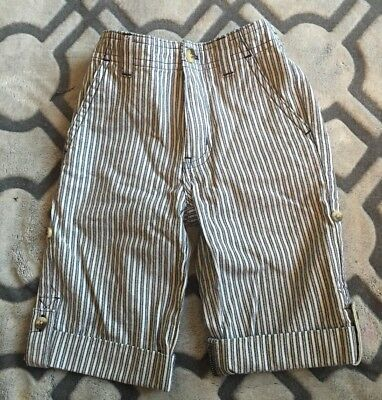 Janie And Jack Boys striped Roll-up Pants size 12/18 months