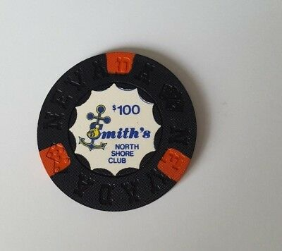 $100 Lake Tahoe Smith's North Shore Club Casino Chip - Uncirculated