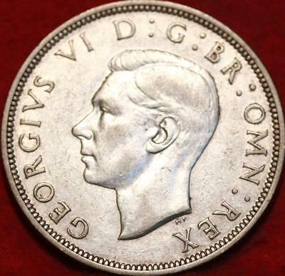 1941 Great Britain 1/2 Crown Silver Foreign Coin