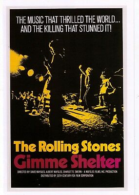 The Rolling Stones Gimme Shelter 1970 Concert Movie Classic  Print Advertisement