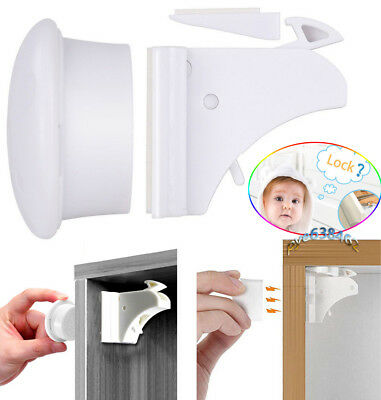 Invisible Magnetic Baby Child Pet Proof Cupboard Door Drawer Safety Locks Catch