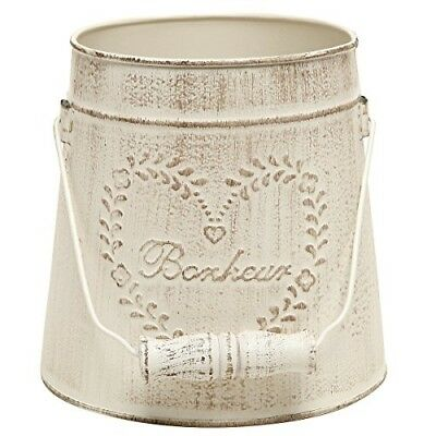 MyGift French Country Vintage Style Rustic Metal Garden Decor Bucket / Centerpie