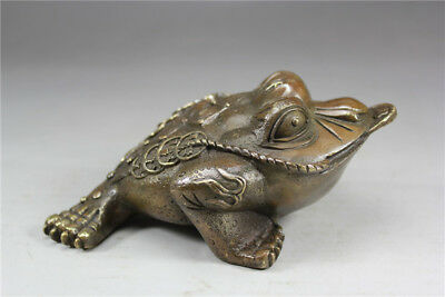 China old bronze ornaments Ancient Bronzeware money Toad