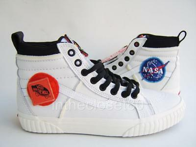 d6adbf9d71ab Vans SK8-Hi 46 MTE DX NASA Space Voyager White Leather Trainers VN0A3DQ5UQ41