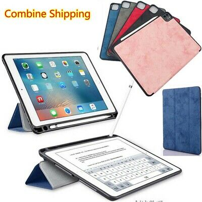 """For iPad Pro 12.9"""" 2017 2015 Shockproof PU leather Tpu Pen Slot Smart Stand Case"""