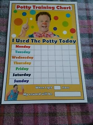 Mr Tumble Potty Chart re-usable behaviour chart star stickers and pen 1