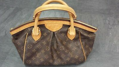 Sac Louis Vuitton Tivoli PM Authentique d occasion en toile monogram brun 537d66afcc0
